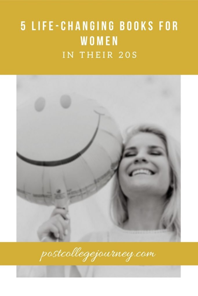 girl holding smiley face balloon because she read 5 of the best books for recent graduates   life changing books for women in their 20s   motivational books