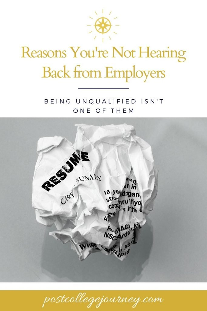 Reasons you aren't hearing back from employers