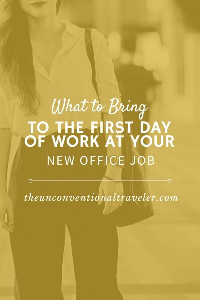 what to bring-first-day-new-office-job