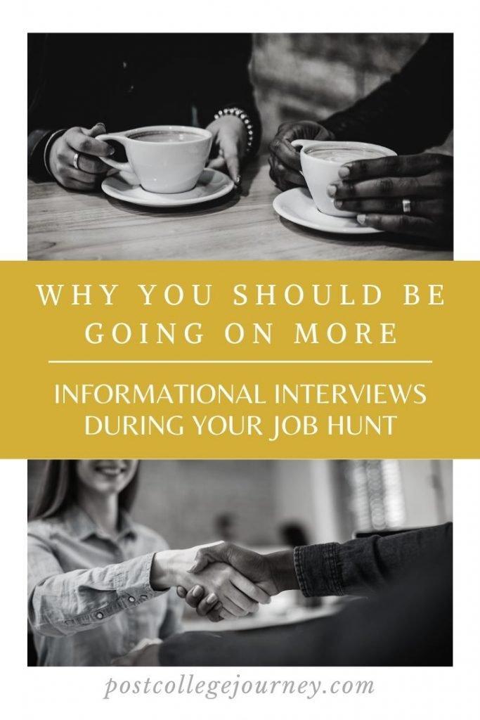 Why are informational interviews important to your job hunt   what are the benefits of going on informational interviews