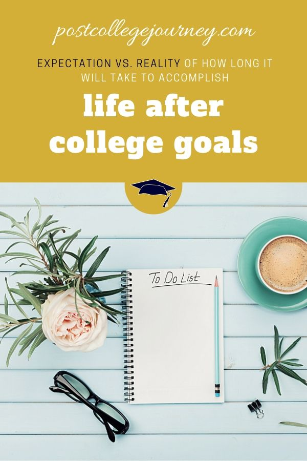 time-based-goals-after-graduating-college-expectation-reality-pinterest