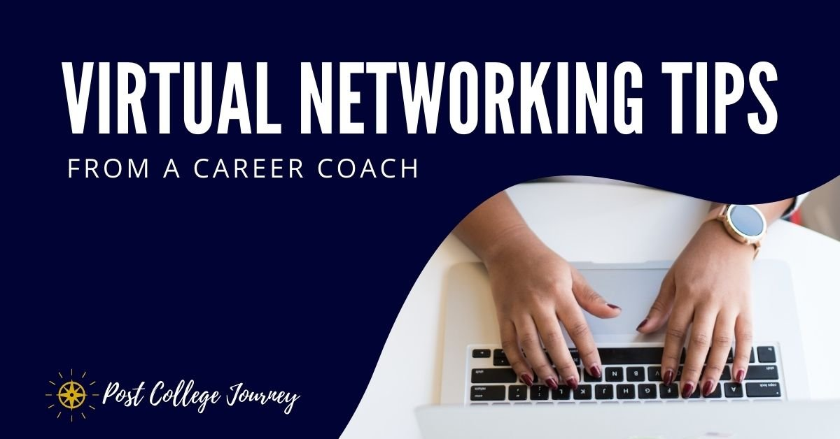 virtual networking tips from a career coach | improve your networking skills